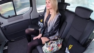FUCKED IN TRAFFIC - Flawless Czech blondie Karina Grand gets fucked hard in the car