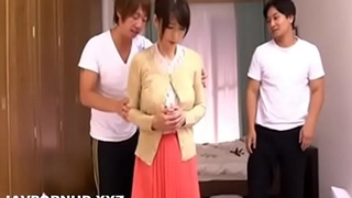 Japanese housewife forced gangbanged with an increment of blackmailed
