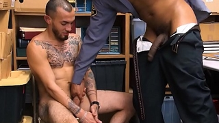 Straight Latino Guy With Tattoos Fucked By Black Gay Security Officer With Huge Locate
