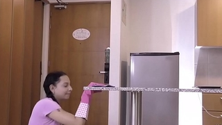 OPERACION LIMPIEZA &ndash_ Hardcore missionary drilling for Latina cleaning lady