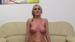 Blonde and sissified agent masturbates together