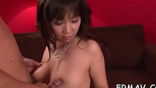 Sweet asian creates wild tremors with her moist oral