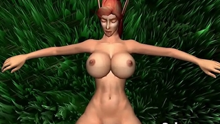 3D Sex Big Tits Elf Fucked In The Forest