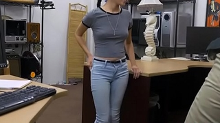 Sexy babe brunette Kiley Jay gets banged in the office