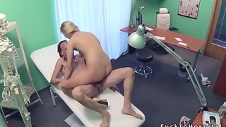 Doctor fucks long legged nurse