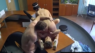 Doctor and nurse have pussylicking threesome