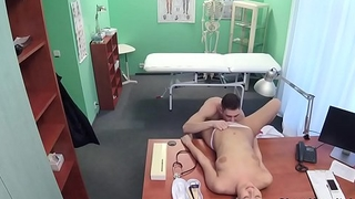 Husky young guy fucks bazaar nurse